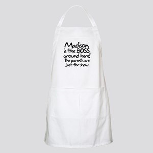 Madison is the Boss Apron