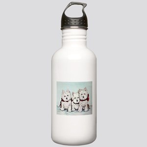 Westies in the Snow Stainless Water Bottle 1.0L