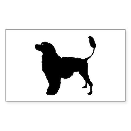 Portuguese Water Dog Rectangle Sticker