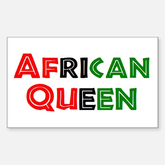 african queen Sticker (Rectangle)