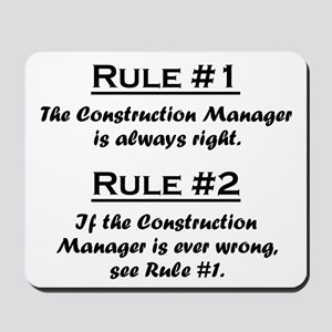 Construction Manager Mousepad