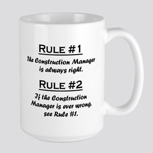Construction Manager Large Mug