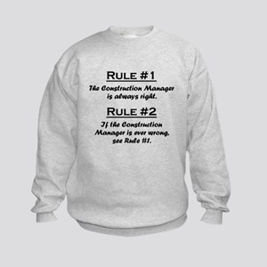Construction Manager Kids Sweatshirt