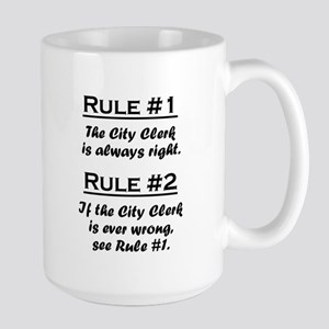 City Clerk Large Mug