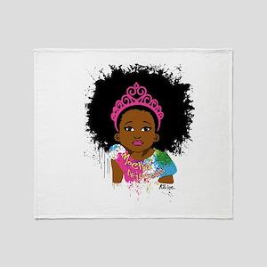 Mocha Princess Throw Blanket