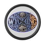 Wyoming Large Wall Clock