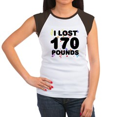 I Lost 170 Pounds! Women's Cap Sleeve T-Shirt