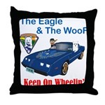 Eagle & The WooF 2 Throw Pillow