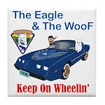Eagle & The WooF 2 Tile Coaster