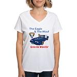 Eagle & The WooF 2 Women's V-Neck T-Shirt