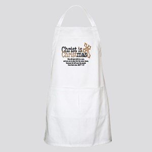 Christ back in Christmas Apron