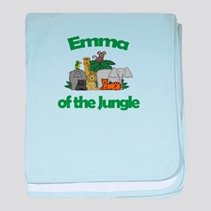 Emma of the Jungle baby blanket