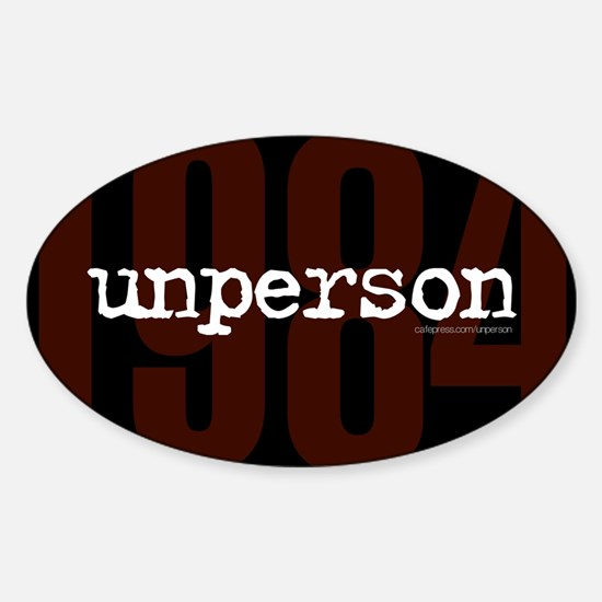 1984 unperson Decal