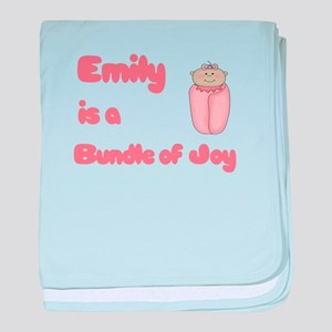 Emily is a Bundle of Joy baby blanket