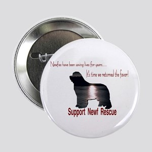 "Support Newf Rescue 2.25"" Button (10 pack)"