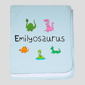 Emilyosaurus baby blanket