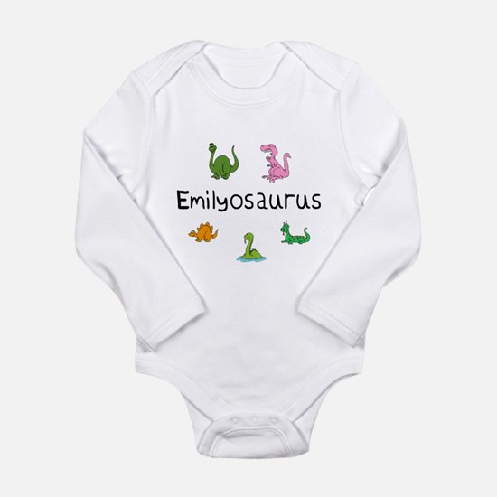 Emilyosaurus Long Sleeve Infant Bodysuit