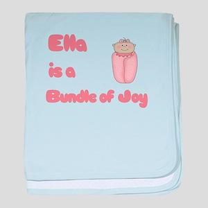 Ella is a Bundle of Joy baby blanket