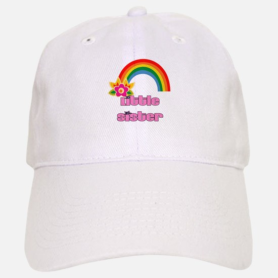 Little Sister Rainbow Baseball Baseball Cap