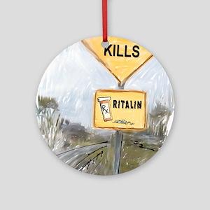 Speed Kills Ornament (Round)