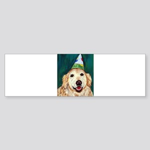 Habby Birthday Golden Bumper Sticker