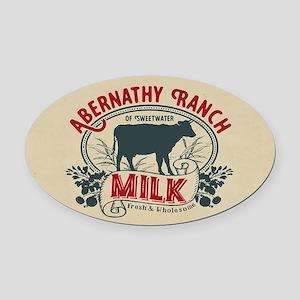 WW Abernathy Ranch Milk Oval Car Magnet