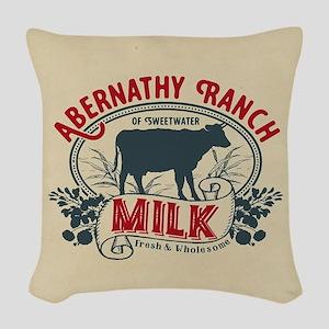 WW Abernathy Ranch Milk Woven Throw Pillow