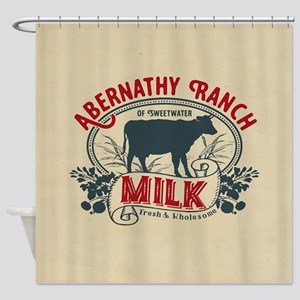 WW Abernathy Ranch Milk Shower Curtain