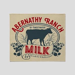 WW Abernathy Ranch Milk Throw Blanket