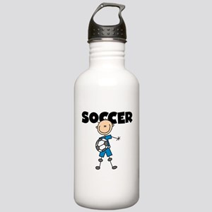 SOCCER Stick Figure Stainless Water Bottle 1.0L