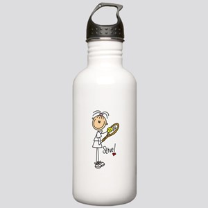 Tennis Serve Stainless Water Bottle 1.0L