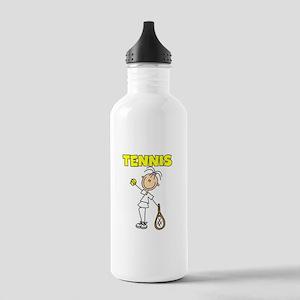 TENNIS Girl Stick Figure Stainless Water Bottle 1.