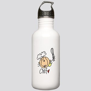 Female Chef Stainless Water Bottle 1.0L