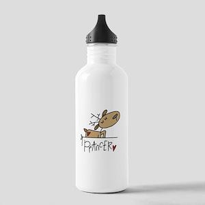 Prancer Reindeer Stainless Water Bottle 1.0L