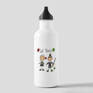Pilgrims Thanksgiving Stainless Water Bottle 1.0L