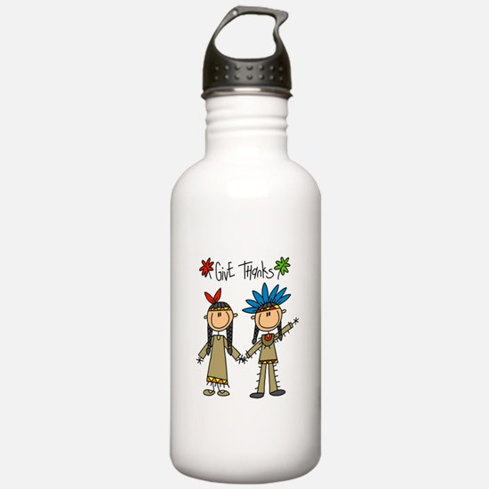 Native Americans Thanksgiving Water Bottle