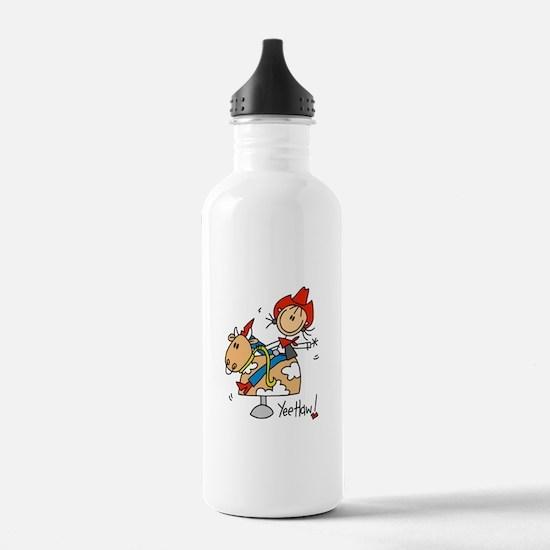 Cowgirl Mechanical Bull Water Bottle