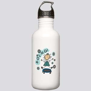 Girl on Trampoline Stainless Water Bottle 1.0L
