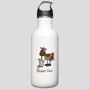 Brown Cow Stainless Water Bottle 1.0L