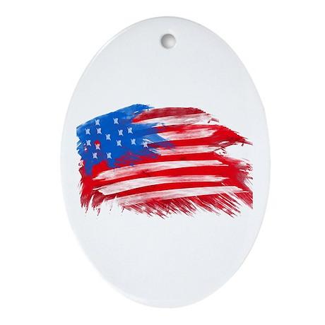 US Flag Ornament (Oval)