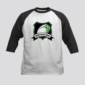 rugby new zealand Kids Baseball Jersey