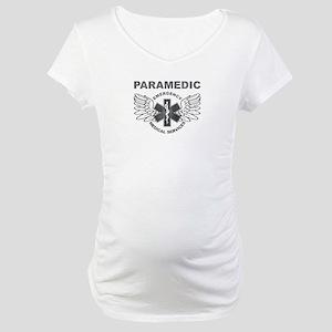 Paramedic EMS SOL wings Maternity T-Shirt