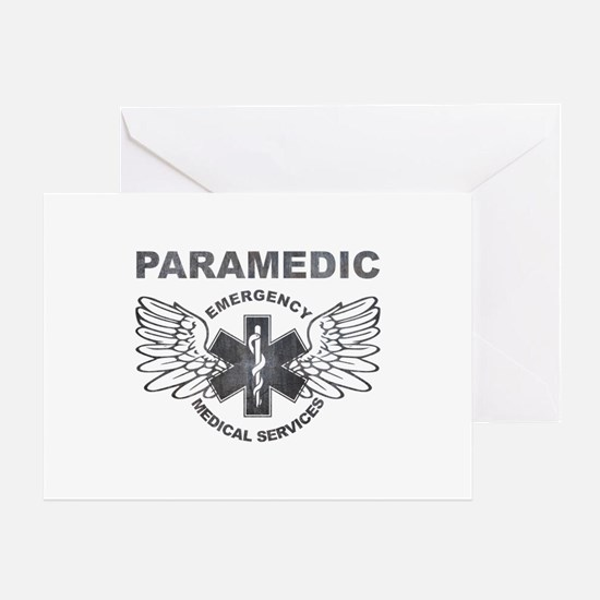 Paramedic EMS SOL wings Greeting Card
