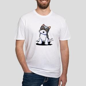 Biewer Yorkie Puppy Fitted T-Shirt