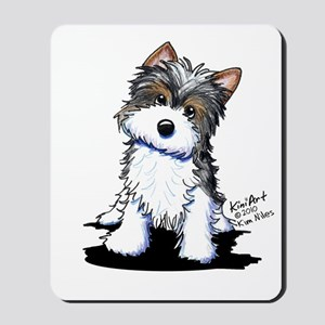 Biewer Yorkie Puppy Mousepad