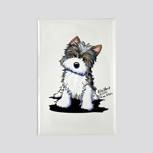 Biewer Yorkie Puppy Rectangle Magnet