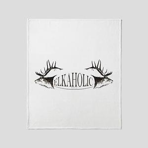 Elkaholic Throw Blanket
