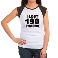 I Lost 190 Pounds! Women's Cap Sleeve T-Shirt
