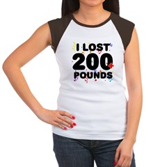 I Lost 200+ Pounds! Women's Cap Sleeve T-Shirt