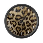 Leopard Print Large Wall Clock